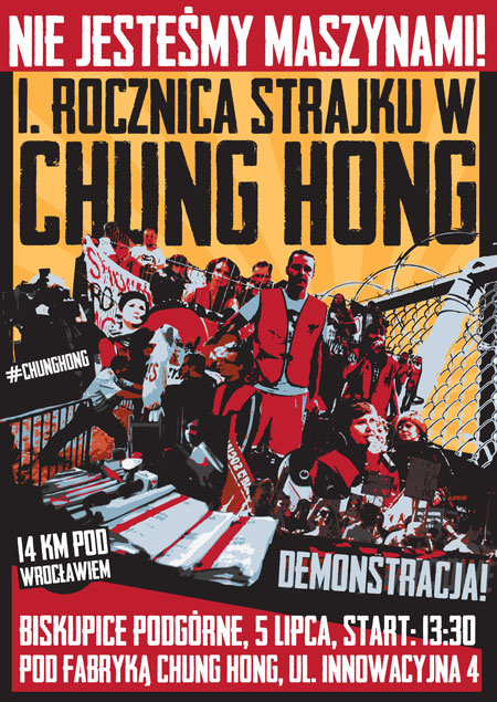 plakat chung hong rocznicacaly